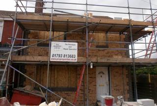 Type 2 Unity House repair underway